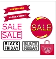Icons for Black Friday and Cyber Monday vector image