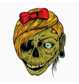 scary zombie girl vector image