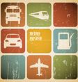 vintage transport traffic poster vector image
