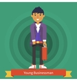 Young Businessman Character Design vector image
