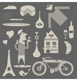 French icons vector image
