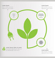 three steps green ecology infographics elements vector image