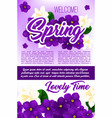 spring season holidays floral poster template vector image