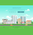 cityscape with a road - modern vector image