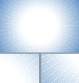 Blue clean sun burst background vector image vector image