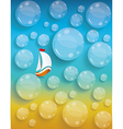 Transparent water drops background tourism and vector image vector image