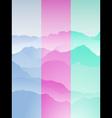 mountain range portrait vector image vector image