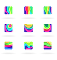 colorful design elements vector image vector image