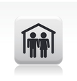 couple home icon vector image vector image