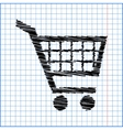 Shopping cart icons signs for online purchases vector image