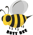 Busy Bee vector image