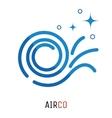Air conditioning logo concept vector image