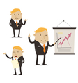 Businessman on presentation vector image