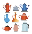 Colored cookware vector image