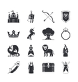 Fairytale and fantasy icons vector image