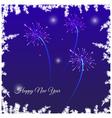 Festive New Year card vector image