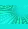 green pop art rays background vector image