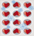 hearts background 2 vector image