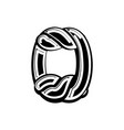 number 0 celtic font norse medieval ornament abc vector image
