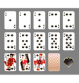 playing cards - spade suit vector image
