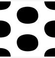 Pop art black white seamless background vector image