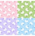 Seamless patterns with cotton buds vector image