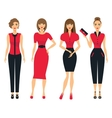 Set of business clothes for women Woman in office vector image