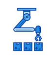 warehouse robot line icon vector image
