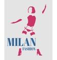 Sexy woman silhouette underwear fashion vector image