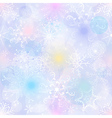 Delicate pastel Christmas pattern with snowflakes vector image vector image