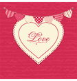 Love heart and bunting background vector image