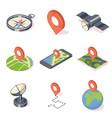 gps navigation icons set vector image
