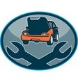 Automobile car breakdown mechanical repair vector image vector image