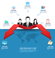 Business template Business two way concept vector image