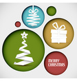 christmas decoration made from white paper stripes vector image