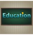 Education on blackboard vector image