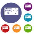 australian flag icons set vector image