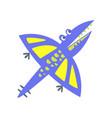 cute fanny pterosaurs prehistoric animal vector image