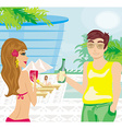 Relax by the pool vector image