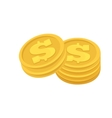Set of cash paper money and coins vector image