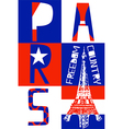 Paris City Modern T-shirt Typography Graphics vector image