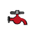 water faucet icon vector image