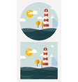 hipster lighthouse flat style vector image vector image