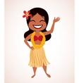 Hawaii hula girl vector image