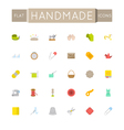 Flat Handmade Icons vector image vector image
