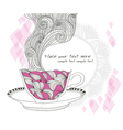 coffe or tea cup background vector image