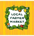 Local farmer market farm logo design vector image