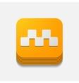 square button taxi vector image