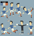 Fun football player Euro 2016 vector image