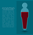 Anemia design concept human body shaped tube with vector image